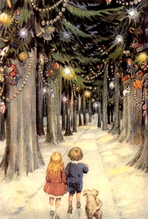 Vintage Christmas Forest