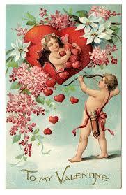 Cherub Vintage Postcard Valentine