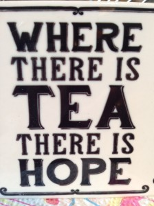 Where there is tea there is hope at Brewery Tea Room